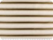 High quality satin, stripes, camel-white, 130cm