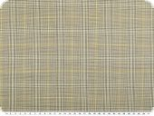 Virgin wool, checked, light grey-yellow, 150cm