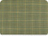 Virgin wool, checked, green-yellow, 150cm