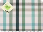 Awning cloth, teflon coatet, checked, turquise-green, 158cm