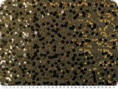 Sequin fabric, gold and black, 140cm