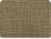 Linen blended fabric, houndstooth, brown-beige, 150cm