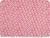 Children fabric, cotton, twill, flowers, pink rose, 160cm