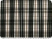 Cotton fabric,  checkered, black-brown, 145cm