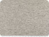 High-quality wool-fleece, plain, light grey, 155cm