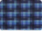 Shirt- and blouse fabric, checks, blue, 140cm