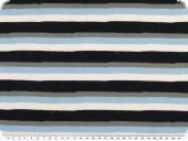 Viscose jersey, stripes, navy-multicolour, 145cm