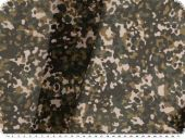 Polyester print, chiffon-like, camouflage, green-multicolour