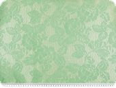 Knit-lace with gloss-effect, flowers, light green, 135cm
