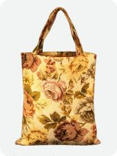 Brocade bag, 38x44 cm, with internal pocket