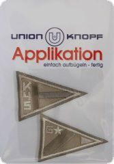 Appliqu� pennants to�iron�on, light brown