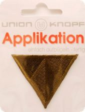 Triangle appliqué, fusible, brown gold