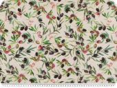 Deco fabric ,  loneta,  olives, ecru-multicolour, 140cm
