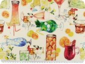 Coated table cloth, cotton, refreshments, 150cm