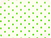 Nice cotton print, dots, green on white, 140cm